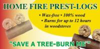 Home Fire Prest Log banner