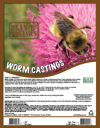 Plan B worm castings