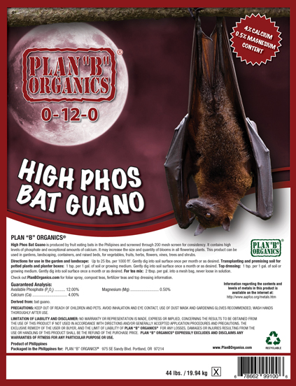 Plan B High Nitro Bat Guano